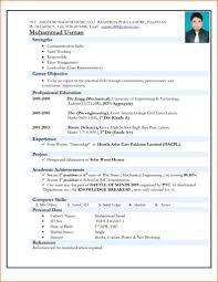Resume Format Free Download In Pdf Oneswordnet