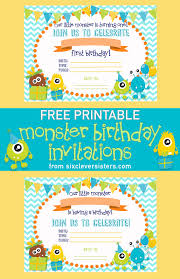 First Birthday Invitations Free Printable Free Printable Monster Birthday Invitations Six Clever Sisters