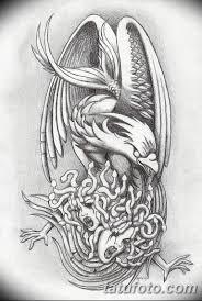 фото эскиз татуировки феникс 18072019 034 Phoenix Tattoo Sketch