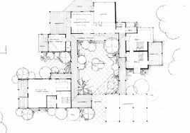 small house plans with interior courtyards fresh modern house plans with courtyards in the middle plan
