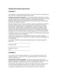 Sample Non Compete Agreement Hashdoc Non Compete