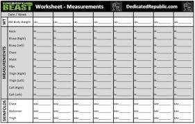 Weight Loss Measurement Tracker Body Measurements Tracking Sheet Weight Loss Measurement