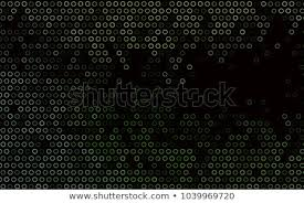 Dark Green Vector Background Bubbles Illustration Stock Vector