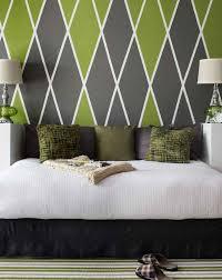 Wandmuster Streichen Ideen Schlafzimmer