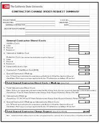 Construction Change Order Form Interesting Sample Order Form Excel Kubreeuforicco