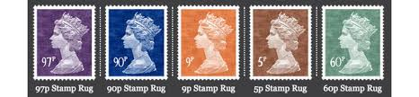 postage stamp rugs picture the queen s head