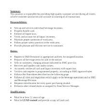 Bartender Qualifications Resume Perfect Bartender Resume Example Adorable Bartender Duties Resume