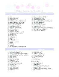 Baby Shower Planning Checklist Baby Shower Planning Checklist Excel