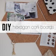 diy cork boards. View In Gallery DIY Hexagon Cork-boards Diy Cork Boards