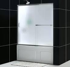 sliding bathtub door infinity plus tub door with tub frosted glass franklin brass framed sliding bathtub