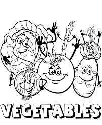 Free printable vegetables coloring pages. Vegetable Mix Coloring Picture