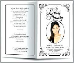 How To Make A Funeral Program Free Memorial Program Template Free Funeral Program