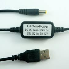 <b>DC 5V TO</b> 12V <b>USB</b> to <b>DC</b> 5.5*2.1mm Cable <b>DC DC</b> Boost Conerter ...