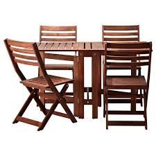 small and simple outdoor wooden picnic table with 4 oak folding chairs and small square folding table ideas