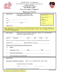 Basic Fire Incident Report Form Magdalene Project Org