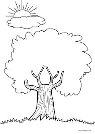 Proven Coloring Pages Of Tree Free Printable For Kids Cool2bkids