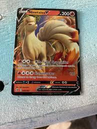 Pokemon Card - Nine Tails V - Mint Condition - Full Art - Rarity, Shine