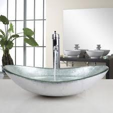 silver vessel sink. Perfect Vessel Silver Tempered Glass Bathroom Vessel Sink Bowl WChrome Mixer Tap Faucet  Set Inside