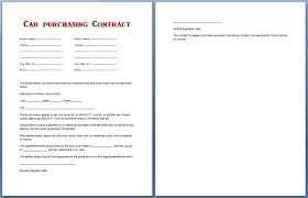 Automobile Purchase Agreement Template Vehicle Purchase Agreement Gorgeous Auto Purchase Agreement Template