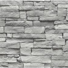 Bolcom Vintage Stenen Grijs Behang Vliesbehang Grijs