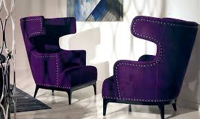 roomservice beautiful purple wingback chair with wingback armchair pierre guariche with free span system