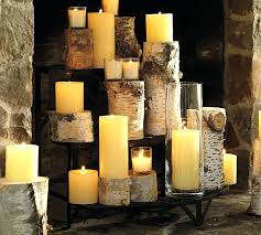 fireplace candle holder black wrought iron romantic home decor ideas
