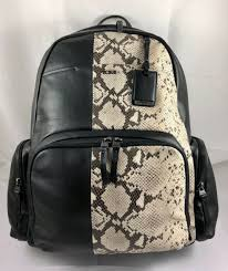tumi limited edition voyageur calais leather backpack laptop bag black 525 new