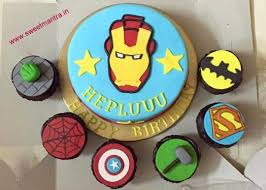 Iron Man Superhero Theme Customized Eggless Small Fondant 3d