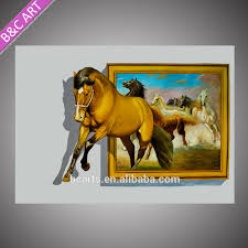 3d Wall Art High Quality Animal Photos Running Horse Printing 3d Wall Art