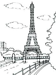 Eiffel Tower Paris Printable Coloring Pages As For Adults Easy