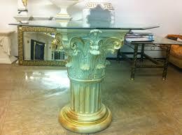 Barock Designer Tisch Wohntisch Marmor Gold Deko König Ihr