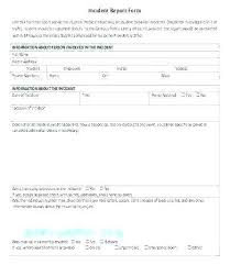 Computer Incident Report Template System E Awesome Hr Failure