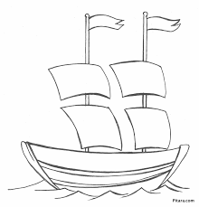 Small Picture Sail boat Coloring page Pitara Kids Network