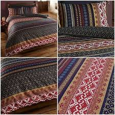 Reversible Modern Indian Moroccan Ethnic Orkney Duvet Quilt Cover ... & Image is loading Reversible-Modern-Indian-Moroccan-Ethnic-Orkney-Duvet-Quilt - Adamdwight.com