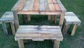 pallets outdoor furniture. Nice Designed Pallets Outdoor Table Set Furniture E