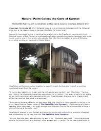 natural paint colorsNatural paint colors the cove of carmel