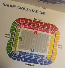 Kaliningrad Stadium Seating Chart Kaliningrad Stadium Seating Plan Kaliningrad Guide