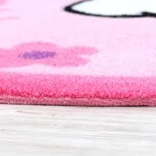 Hello Kitty Teppich Kinderzimmer Teppich Rund mit Blumen Rosa Pink ...