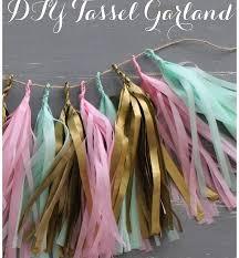diy confetti system inspired tissue paper tassel garland