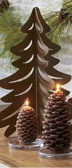 Pine Cone Candles 213 Best Rustic Christmas Winter Wonderland Images On