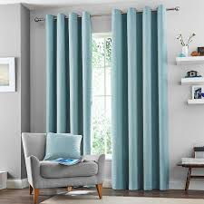 Lined Bedroom Curtains Duck Egg Vermont Lined Eyelet Curtains Dunelm Lounge