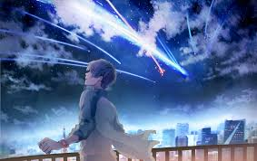 Customize and personalise your desktop, mobile phone and tablet with these free wallpapers! 1016935 Landscape Anime Space Sky Stars Your Name Horizon Image Screenshot Computer Wallpaper Atmosphere Of Earth Special Effects Outer Space Mocah Org