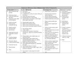 Daily Classroom Behavior Chart Templates At