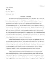 the alchemist essay mckenzie casey mckenzie mr palumbo ap  8 pages ghosts of the white house
