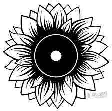 Sunflower Stencil Designs Sunflower Stencil Sunflower Stencil Stencils Vector Photo