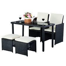 5tlg Gartenmöbel Polyrattan Lounge Set Esstisch Set Rattanmöbel
