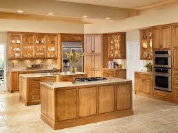 spacious country oak kitchen cabinet with 2 islands and corner pantry cabinet also glass door wall cabinet