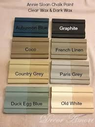 painting furniture ideas color. ASCP Color Boards With Clear And Dark Waxes - The Final Paint Colors Are Completely Different Painting Furniture Ideas