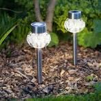 Warm white solar garden lights