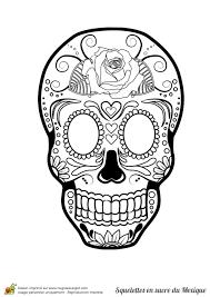 Coloriage Cr Nes En Sucre Du Mexique Sur Hugolescargot Com Tete De Mort En Sucre Mexicaine A Colorier L